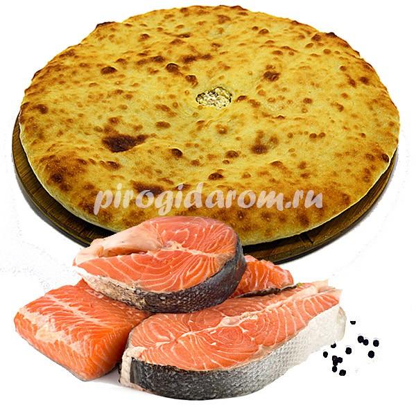 Осетинский пирог с форелью